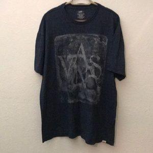 Men's Van's tee shirt graphics gray black XXLarge